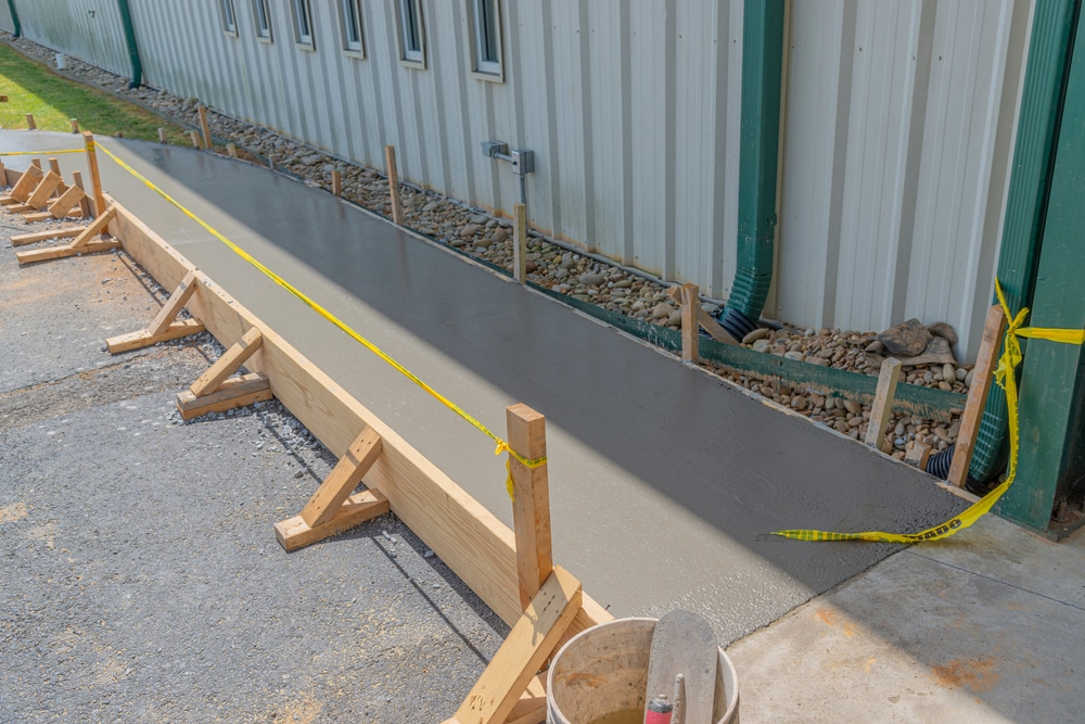 Newly constructed concrete sidewalk in tulsa ohio
