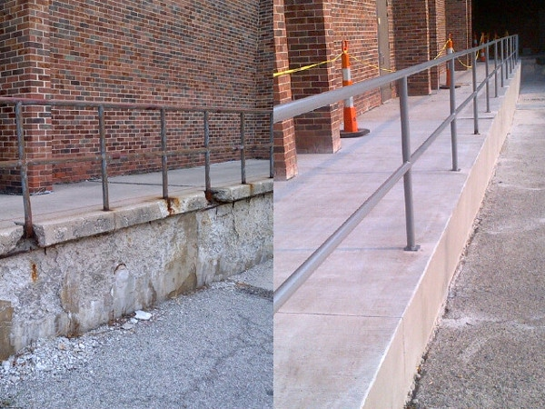 Repaired a public sidewalk: Before and After look